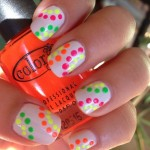 Coloured Dots Spring Nail Designs