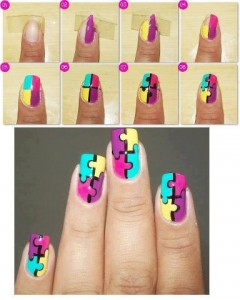 Jigsaw Puzzle Nail Art Design Tutorial