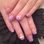 Pink Bows and Dots 3D Nail Art Designs