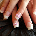 Pink and White Bows 3D Nail Art Designs