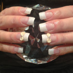 Cream Bows 3D Nail Art Design