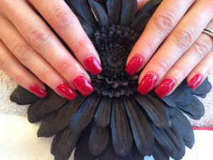 Red Gel Nails