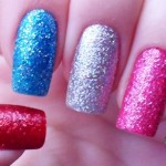 Multi-Coloured Glitter Nails