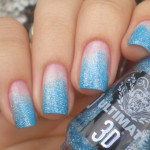 Light Blue Glitter Nails