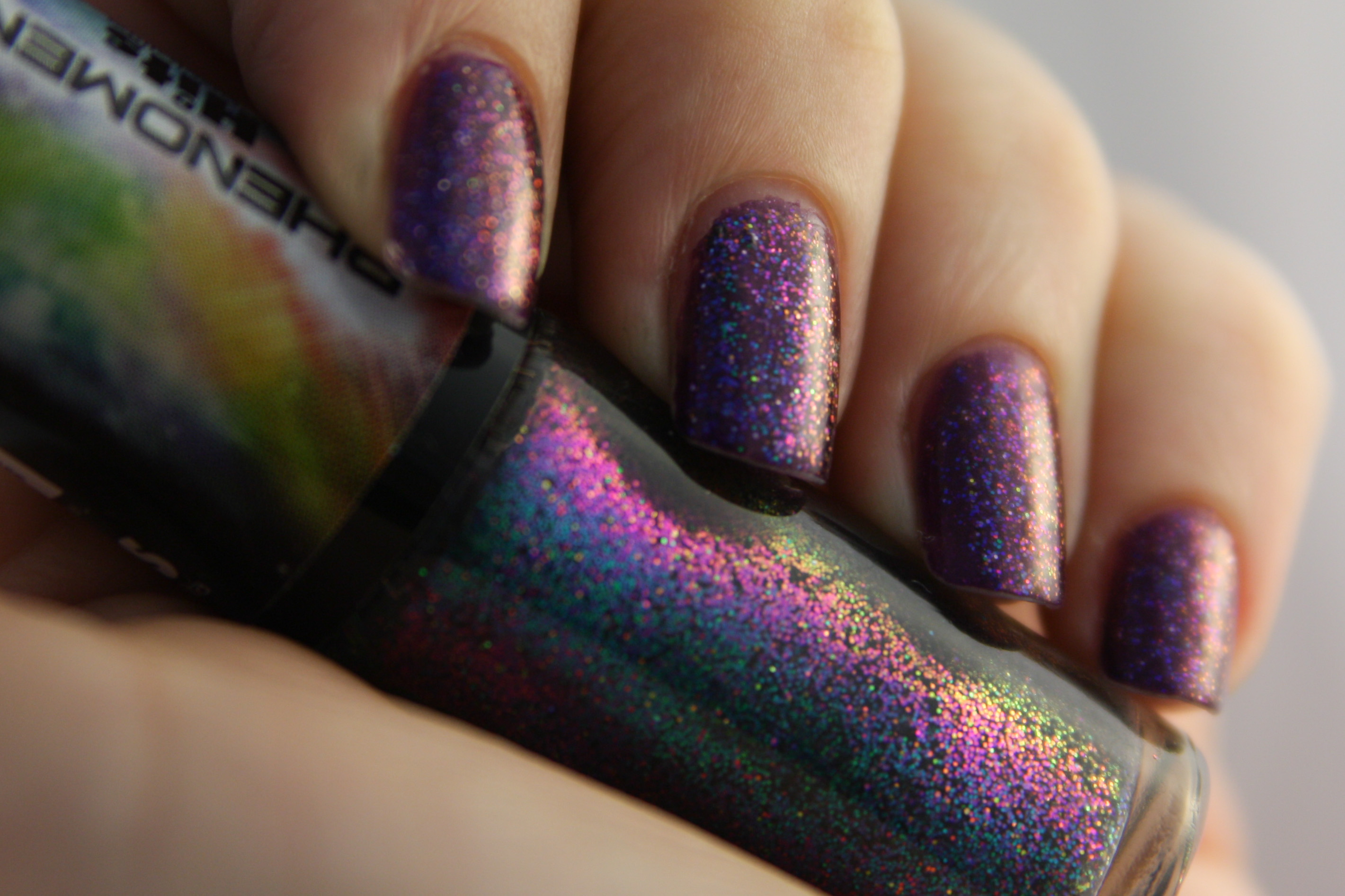 Purple and Dark Glitter Nails