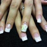 White Flowers 3D Nail Art Designs