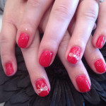 Red Bows 3D Nail Art Designs