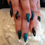 Stiletto Nails With Gel Polish and Nail Art