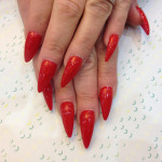 Stiletto Nails With Kiss of Paris Gel Polish