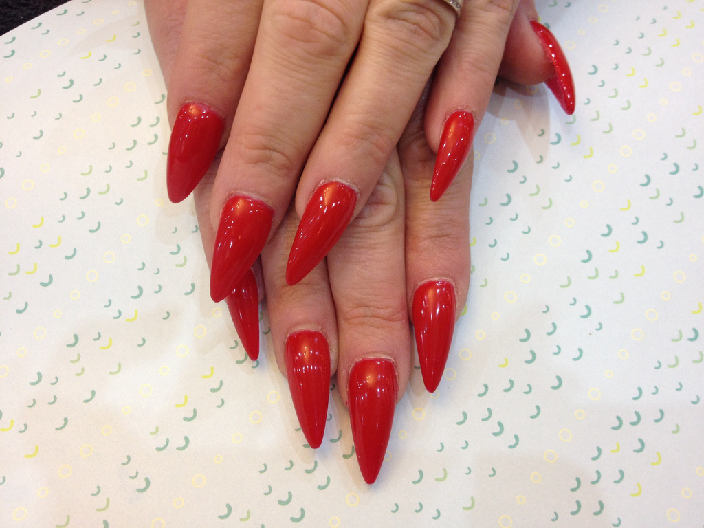 Stiletto Nails With Kiss of Paris Gel Polish - Nail Designs For You