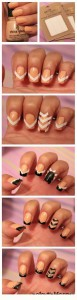 Black Stripe Arrow Nail Art Tutorial