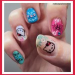 Hell Kitty Cute Nail Design