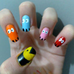 Cute Faces Nail Design