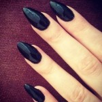 Black Stiletto Nail Designs
