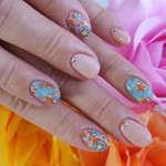 Blue Flowers Spring Nail Designs