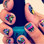 Mixed Abstract Cute Nail Design