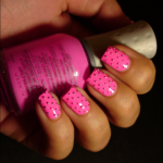 Pink Jewels French Manicure Design