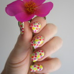 Mutl Coloured Dots Spring Nail Designs