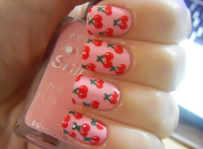 Cute Cherry Design Cute Nail Designs