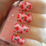 Cherries Cute Nail Design