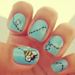 Bumble Bee Cute Nail Design
