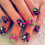 Bird Cute Nail Design