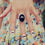 Moustache Cute Nail Designs