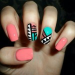 Abstract Cute Nail Design