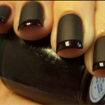 Black French Manicure Design