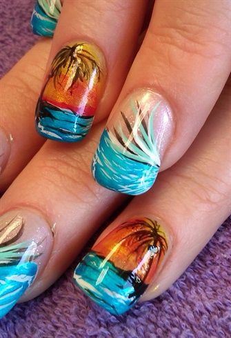 Beach Summer Nail Design