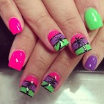 Palm Tree Summer Nails Designs