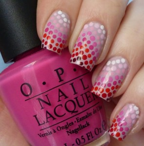 Simple Nail Art Design of Multi Coloured Dots