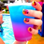 Palm Tree Sky Summer Nails Designs
