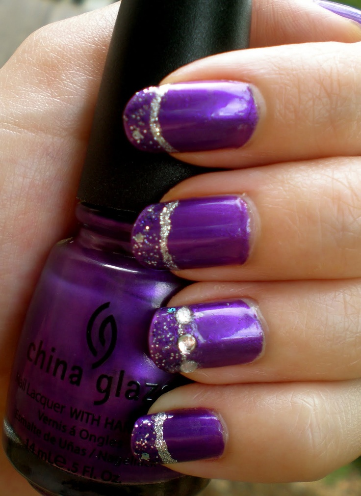 Purple nail designs and nail art nail designs for you prinsesfo Choice Image