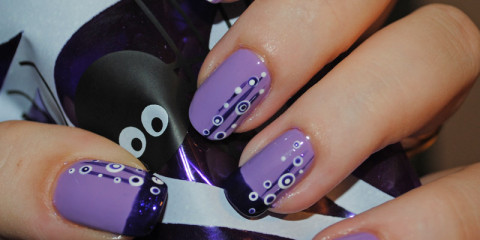Purple Nails and Nail Art  - Using OPI Pirates of the Caribbean 'Planks a Lot' Polish