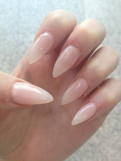 Stiletto Mountain Peak Nude Nails