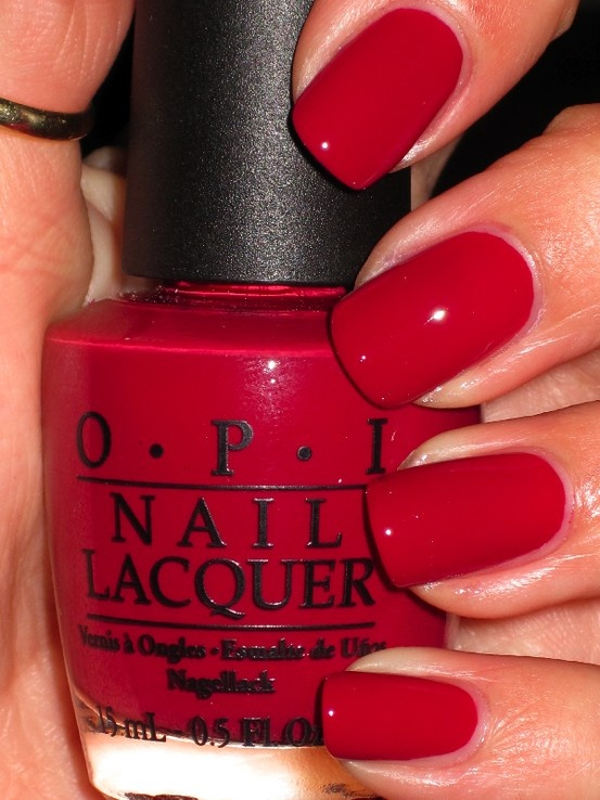 Red Nails - Using OPI Red L72
