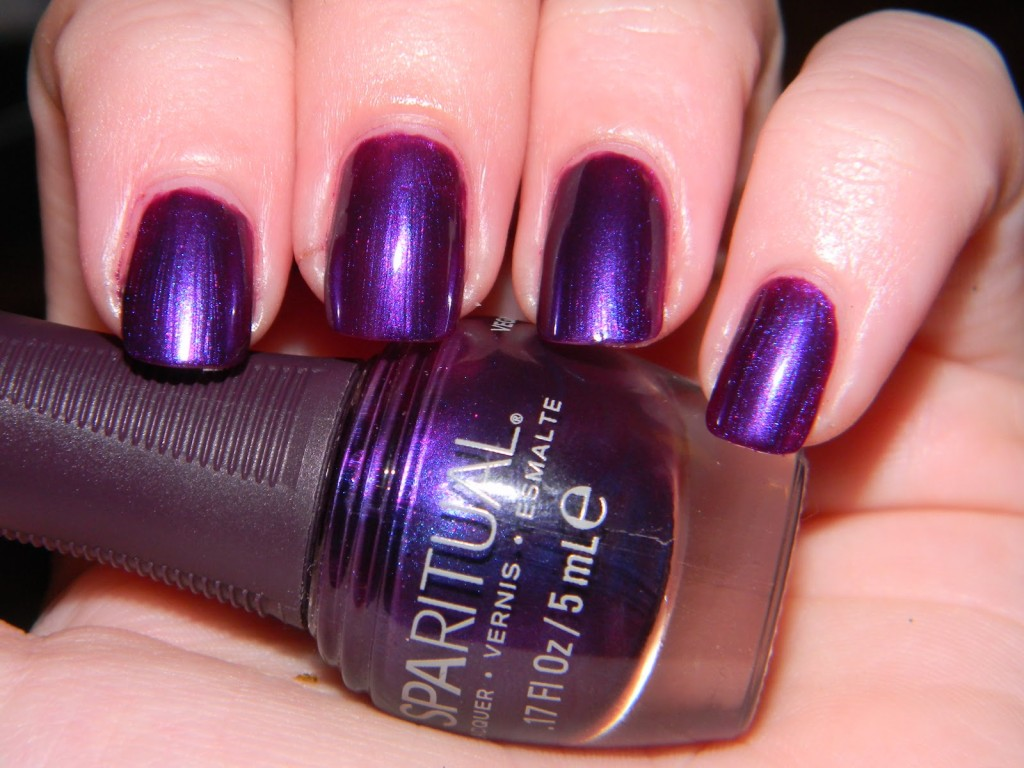 Purple Dark Shimmer Nails - Using Sparitual Fall Wilde Purple Polish