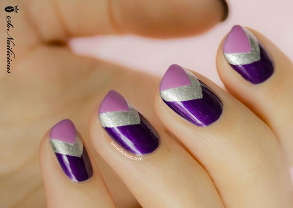 purple-silver-chevron-nails