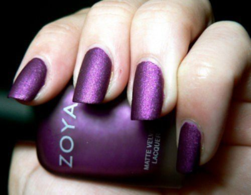 Purple Glitter Nails - Using Zoya Sparkle Collection