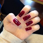 Red Square Nails