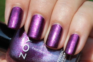 Purple Glitter Nails - Using Zoya Carly Purple Polish