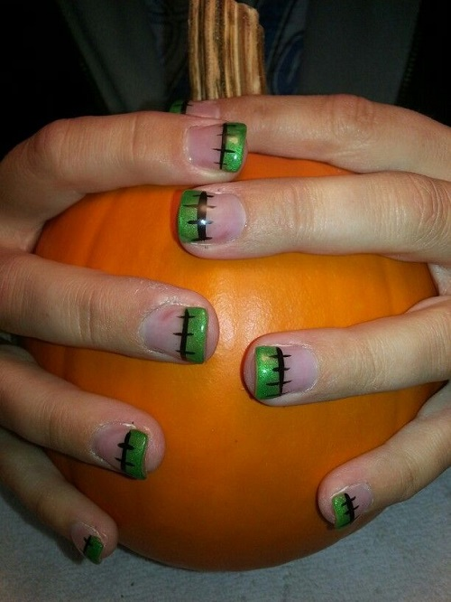 Halloween nail art 25 spooky ideas page 5 of 5 nail designs pumpkin frankenstein halloween nail designs art prinsesfo Image collections