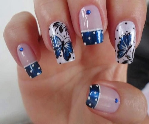 Butterfly Unique Nail Design Re-sized - 25 Unique Nail Designs And Nail Art Ideas - Nail Designs For You