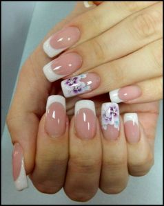 Elegant Flower Nail Design