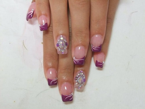 Elegant Purple Nail Design