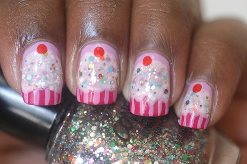 Jelly Sandwich Cupcake Nails Re-sized