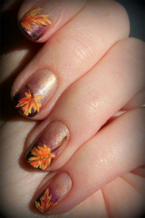 Leaf Unique Nail Design - Leaf Unique Nail Design - Nail Designs For You