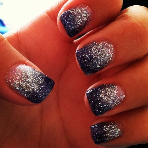 Ombre Glitter Elegant Nail Design Nail Designs For You