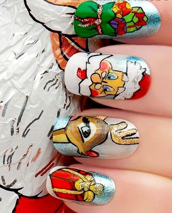 amazing christmas nail designs